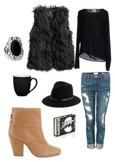 Fall in love by jbanna on Polyvore featuring polyvore, moda, style, Lanvin, H&M, Frame Denim, rag & bone, Olympia Le-Tan and Noritake