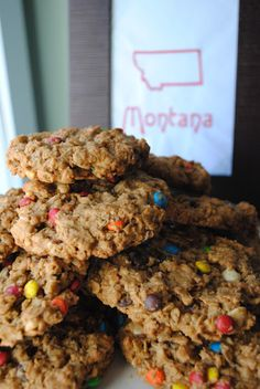 Montana Whoppers - packed with rolled oats, peanut butter and three types of chocolate