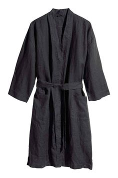 5f907e4f8d Washed linen dressing gown  PREMIUM QUALITY. Washed linen dressing gown  with two pockets at