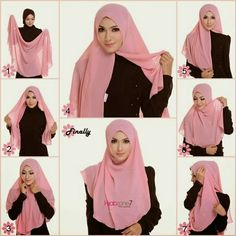 All about lifestyle, beauty, wellness, tips and simple recipes masak cara fiza Tutorial Hijab Segi 4, Simple Hijab Tutorial, Pashmina Hijab Tutorial, Hijab Style Tutorial, Turban Tutorial, Mode Turban, Turban Hijab, Hijab Niqab, Cara Hijab