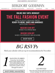 10 Things You Must Do This Month + Shop The Fall Fashion Event - Bergdorf Goodman