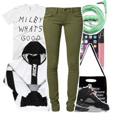Miley What's Good ? by beautifulme078 on Polyvore featuring polyvore, fashion, style, Mavi, Off-White, American Apparel, NARS Cosmetics, Urbanears and Retrò