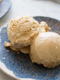 Creamy and salty peanut butter ice cream. This recipe for our Salty Nuts Ice Cream has no eggs! We topped our ice cream with sea salt for a nice finish.