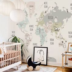 Little Hands Wallpaper - just need to know the exact measure of your wall - My best wallpaper list Baby Bedroom, Baby Boy Rooms, Little Girl Rooms, Nursery Room, Kids Bedroom, Kids Rooms, Bedroom Ideas, Little Hands Wallpaper, Kids Room Wallpaper