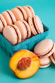 Peach Lavender Macaroons. Oh how I miss summer!