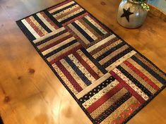 Quilted Table Runner /Handmade / Primitive Decor/ Country
