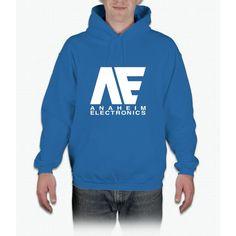 Anaheim Electronics Logo White Hoodie