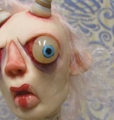 lowbrow art doll ooak one of a kind goat girl by mealy monster land