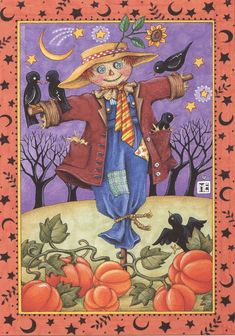 My Handmade Greeting Cards are created using Mary Engelbreit Artwork illustrations from Mary Engelbreit desk calendars. Halloween Illustration, Mary Engelbreit, Holidays Halloween, Halloween Crafts, Halloween Ideas, Creation Photo, Autumn Art, Animation, Illustrations