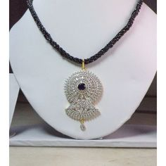 Buy Gorgeous Morden Designer Black Spinel Necklace Set with Beautiful Blue Stone AD Pendant for Women and Girls by undefined, on Paytm, Price: Rs.1100?utm_medium=pintrest