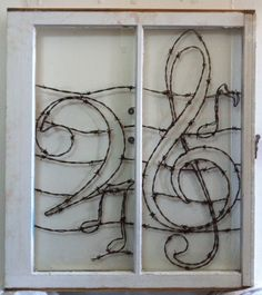 Melody Hand Crafted Barbed Wire Design by windowzofopportunity, $480.00