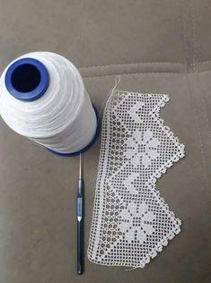 Dowry lace pattern «knitting home, knitting baby, knitting pattern, elis … - lace things Filet Crochet, Crochet Lace Edging, Crochet Motifs, Crochet Borders, Crochet Cross, Crochet Chart, Crochet Squares, Love Crochet, Crochet Doilies