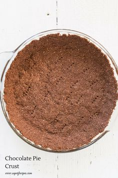 Chocolate Pie Crust. no rolling required #Vegan #GlutenFree loaded with #SuperFoods