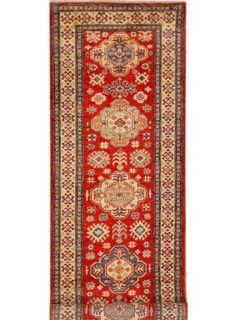 """Red Oriental Kazak Runner 2' 9"""" x 10' 8"""" (ft) - No. 21116"""