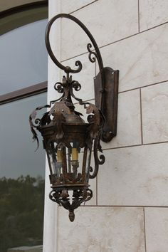 Custom hand made iron exterior light by www.haciendalights.com
