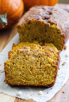White Chocolate Pumpkin Bread with Streusel Topping