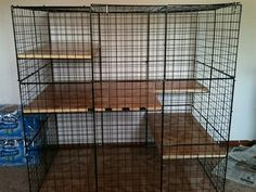 Great Habitats - could use Samson's extra large dog crate, add a few pieces of plywood covered w/carpet remnant & tada!a bunny cage Diy Bunny Cage, Bunny Cages, Cat Cages, Rabbit Cages, Rabbit Hutch Plans, Rabbit Hutches, Pet Bunny Rabbits, Pet Rabbit, Bunnies