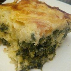A great vegetarian dish with many options. Beef Quiche, Spinach Quiche Recipes, Quiche Dish, Spinach And Cheese, Easy Baked Potato, Steamed Potatoes, Cooking Recipes, Diabetic Recipes, Slow Cooking