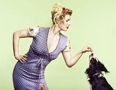 Tante Betsy  Dress Nostalgie purple polkadots print floral sleeves