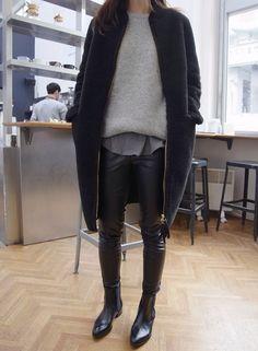 Layers black+grey