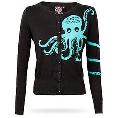 Okay this something i want so bad!!!! Its an Octopi!!!!! AHHHHHHHHH  ThinkGeek :: Octopus Cardigan