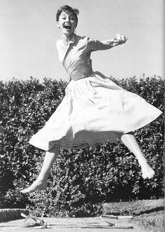 """""""Happy girls are the prettiest."""" -- Audrey Hepburn"""