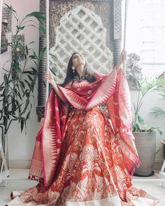 "Masoom Minawala (@missstylefiesta) on Instagram: ""// Reminiscing this exact time last year, while I was at @bridalasia shopping for my trousseau &…"" #indianweddingdresses"
