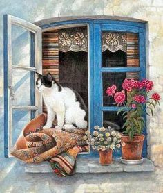 Cats at Their Windows by Lesley Anne Ivory