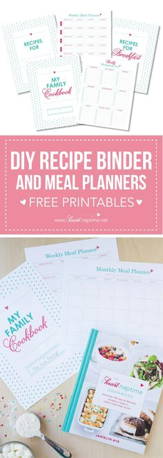 DIY Recipe Binder – FREE with The I Heart Naptime Cookbook… enjoy this helpful printable when you preorder the I Heart Naptime Cookbook!