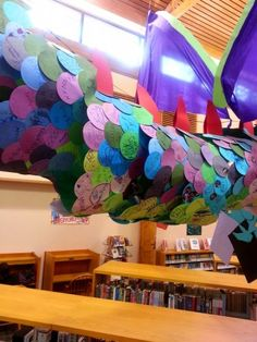 Dragon From the Side (Rachel Moani) Castle Theme Classroom, Classroom Themes, Library Displays, Classroom Displays, Book Corner Display, Knights And Castles Topic, Easy Book Week Costumes, Enchanted Forest Book, Middle School Libraries