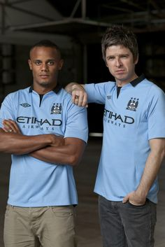 Amazing New ManCity Home Shirt by Vincent Kompany & Noel Gallagher
