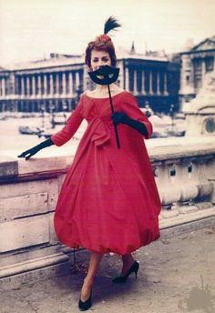 1958   Dior love this bubble style dress!