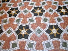 Italian Tiles. This mosaic tile floor was…