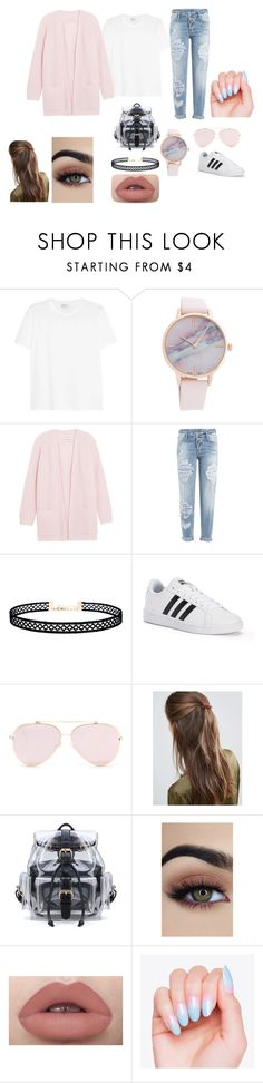 """Pinky"" by corvidqueen on Polyvore featuring Yves Saint Laurent, By Malene Birger, Dsquared2, LULUS, adidas and DesignB London"