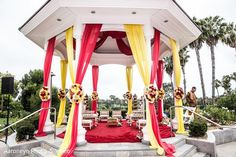 Mandap http://www.maharaniweddings.com/gallery/photo/58557 @MarriottNB/newport-beach-marriott-hotel-spa-weddings