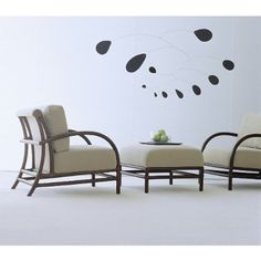 McGuire Furniture: Orlando Diaz-Azcuy Toscana(TM) Lounge Chair: A-56