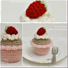 adorable crocheted cupcakes.