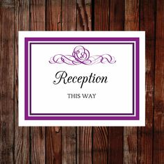 Printable wedding sign, affordable and easy to edit and print. Have great signs at your wedding. View the full collection.