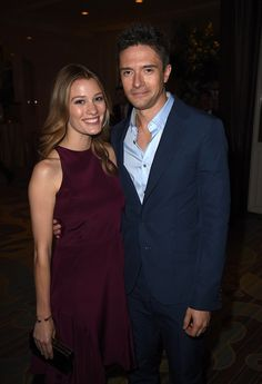 Topher Grace and Ashley Hinshaw cracked each other up when they hit the red  carpet together at the Hollywood Foreign Press Association's Grants Banquet  in ...