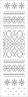 Galería de tarjetas perforadas para máquinas de tejer (Silver Reed, HERMANO) compenetración 3 y Clase 5 con 24 bucles