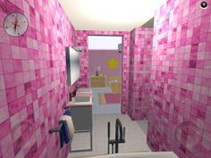 Vista desde el final del baño hacia el dormitorio