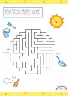 Body Boarder Lottie doll maze game for kids #free #printables Download at www.lottie.com/create/