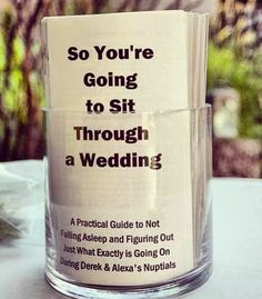 Wedding program @Shannon Stone Fox Bride