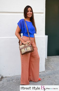 Street Style by Primeriti - Belen Wide Pants Coral Pants, Wide Pants, Flare Jeans, Friday, Street Style, Fashion, Cobalt Blue, Cribs, Colors