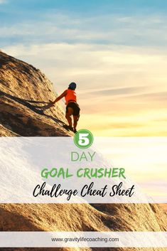 5 Day Goal Crusher Challenge Cheatsheet!  5 Days of Tools and Strategies you need to reach your short and long term goals!  Create your Dream Life | Goal Setting | Vision Board | Mindset | Personal Growth | New Years Resolution #goals #goalsettting #newyearsresolution #gravitylifecoaching Erin Dickson | Gravity Life Coaching | www.gravitylifecoaching.com Change Your Mindset, Success Mindset, Positive Mindset, Goal Setting Life, Online Entrepreneur, Life Goals, Dream Life, Law Of Attraction, Dreaming Of You