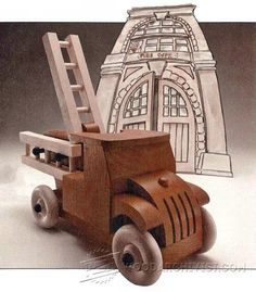 Wooden Fire Truck Plans - Children's Wooden Toy Plans and Projects…