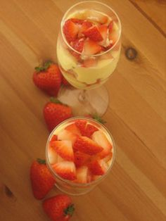 Ingredients: 500 gr mascarpone cheese 200 gr caster sugar 250 gr sweet Samos wine (or any other good quality sweet wine you can find) 200 gr ladyfingers 300 gr strawberries sliced (or other seasonal fruit) 4 egg yolks fresh milk