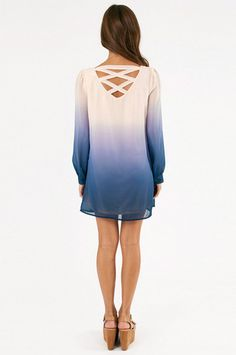 Ombre dress love the back. And I like the fact it's long sleeved :)