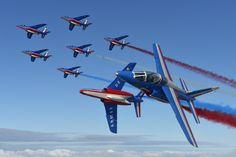Voltiges magnifiques et spectaculaires, de la patrouille de France ! Vraiment des As, ils nous font rêver !