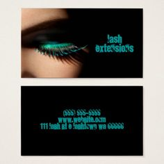 Lashes, Lash Extensions, Beauty Salon, Cosmetology Business Card